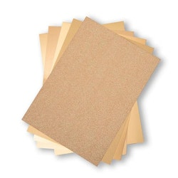 664532 SizzixOpulent Cardstock  5pack A4 Guld