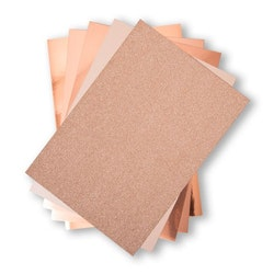 664534 SizzixOpulent Cardstock  5pack A4 Rose Gold