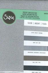 664533 SizzixOpulent Cardstock  5pack A4 Silver