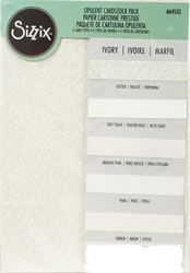 664535 SizzixOpulent Cardstock  5pack A4 ivory