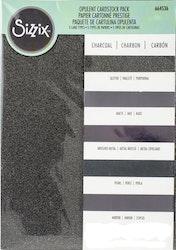 664536 SizzixOpulent Cardstock  5pack A4 iCharcoal