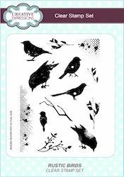CEC782Clearstamp Rustic Birds