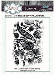 CEASRS004Rubberstamp  Distressed Wallpaper