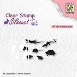 SIL083Clearstamp Small Animals