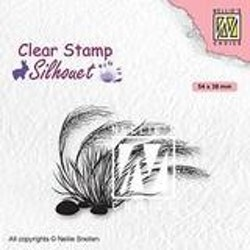 SIL084Clearstamp Blooming Grass 3