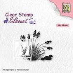 SIL085Clearstamp Blooming Grass 4