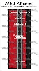CLMA11 Dies Mini albums Binder 11 mm spine