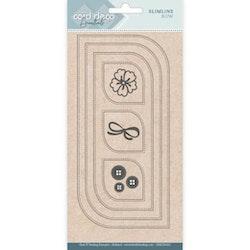 CDECD0102Dies Card  Slimline Bow