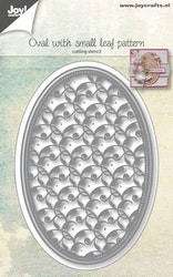 6002-1073 Dies oval with small leaf pattern