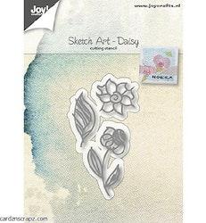 6002-1036 Dies Sketch Art Daisy