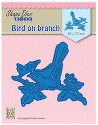 SDB073DIES Bird on branch