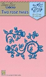 SDB023DIES Two rose twigs