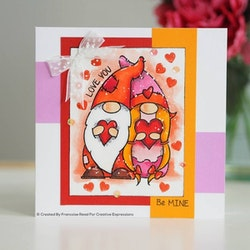 FRS846-Woodware Clearstamp Valentine Gnome