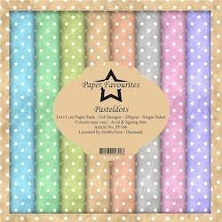 PF166BLOCK Shabby Pastel Dots