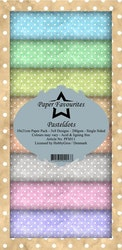 PFS011 Mönsterpapper slimcard Pastel Dots