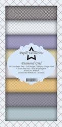 PFS014 Mönsterpapper slimcard Diamond Grid