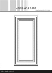 SBD150DIES Simple and Basic Frames - Mini Slimcard