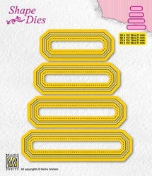 SD205DIES Nellie set of 4 tags - 4