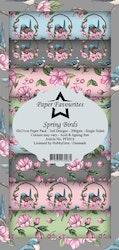 PFS016 Mönsterpapper slimcard Spring Birds