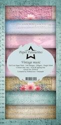 PFS018 Mönsterpapper slimcard Vintage music