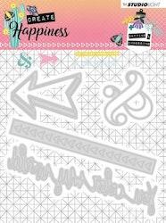 STENCILCR156DIES  Create Happiness