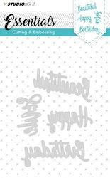 STENCILSL163DIES  Essentials Happymade