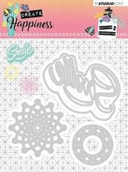 STENCILCR157DIES  Create Happiness