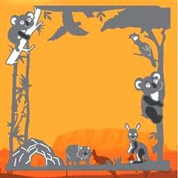 ADD10203DIES Wild Animals Koala frame