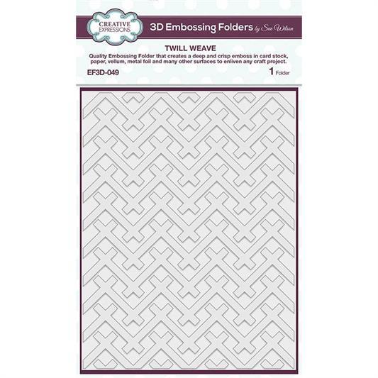 EFD-049 3D Embossingfolder TWILL WEAVE