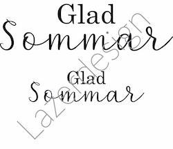 8183-Stämpel  Glad Sommar