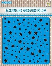 EEB023Embossingfolder Srtars and Dots