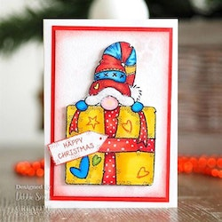 FRS866 Woodware Clearstamp Gnome Gift