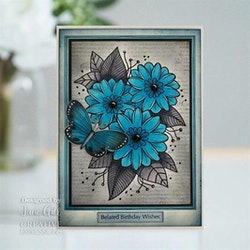 JGS763 Woodware ClearstampPassion Flower