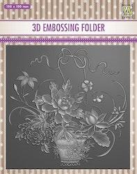 EF3D030Embossingfolder Flower Bouquet