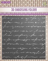 EF3D032Embossingfolder Writing