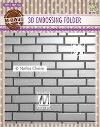 EF3D023Embossingfolder Brick wall