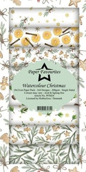 PFS024 Mönsterpapper slimcard Watercolor christmas