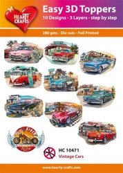 HC10471  3-D Toppers Vintage Cars