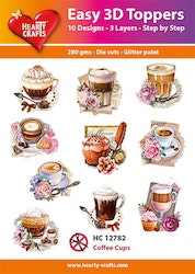 HC12782  3-D Toppers Coffee Cups