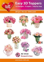 HC10123  3-D Toppers Bouquet in Vase