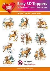 HC11344  3-D Toppers Dear in Winter