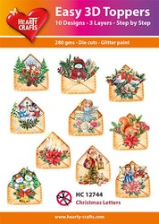 HC12744  3-D Toppers Christmas Letters