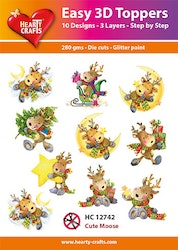 HC12742  3-D Toppers Cute Moose