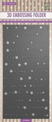EF3D033Embossingfolder Slimline Stars & Dots