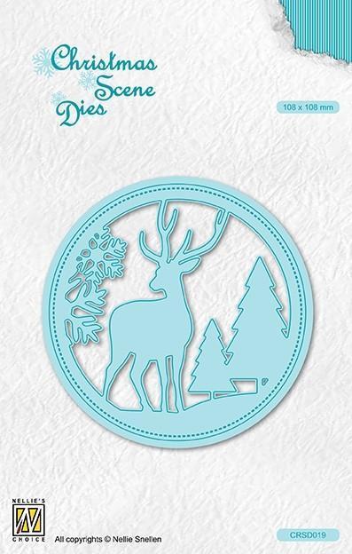 CRS019DIES Scene Reindeer