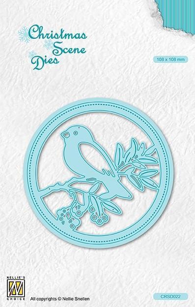 CRS022DIES Scene Bird on branch
