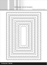 SBD185DIES Rektangel scallop