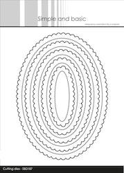 SBD187DIES Oval scallop
