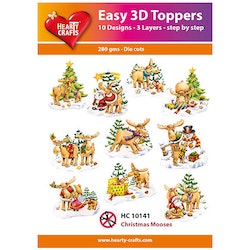 HC10141  3-D Toppers christmas Mooses