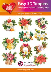 HC10260  3-D Toppers X-mas Flowers